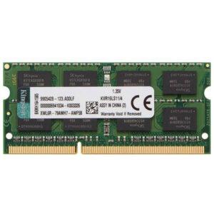 رم لپ تاپ DDR3L تک کاناله 1600 مگاهرتز CL11 کینگستون مدل KVR16S ظرفیت 4 گیگابایت