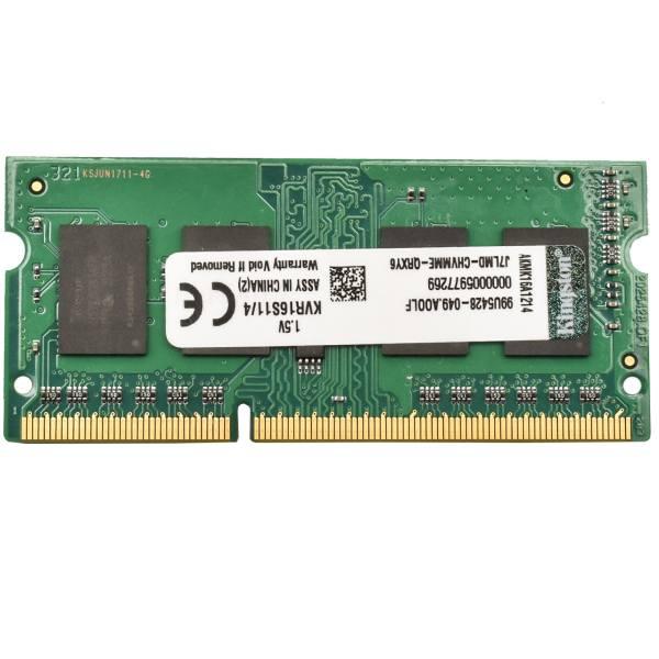 رم لپ تاپ کینگستون مدلDDR3 1600S MHz CL11 ظرفیت 4 گیگابایت