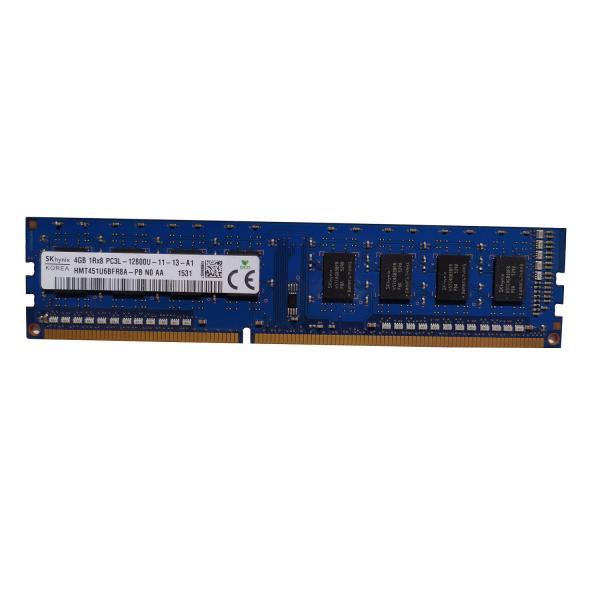 رم دسکتاپ DDR3L تک کاناله 1600مگاهرتز CL11 اس کی هاینیکس مدل 12800 ظرفیت 4 گیگابایت