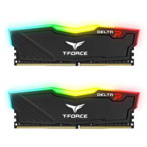 رم کامپیوتر DDR4 دو کاناله 3200 مگاهرتز CL16 تیم گروپ مدل T-Force Delta RGB ظرفیت 64 گیگابایت
