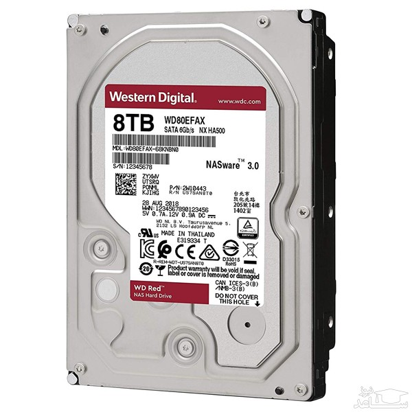هارد دیسک اینترنال وسترن دیجیتال مدل RED PRO WD8003FFBX ظرفیت 8 ترابایت